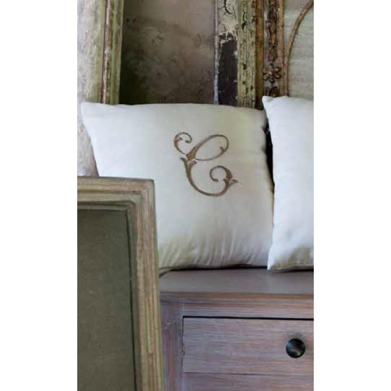 Cuscino arredo blanc maricl cifra c collezione panama - Blanc mariclo mobili ...
