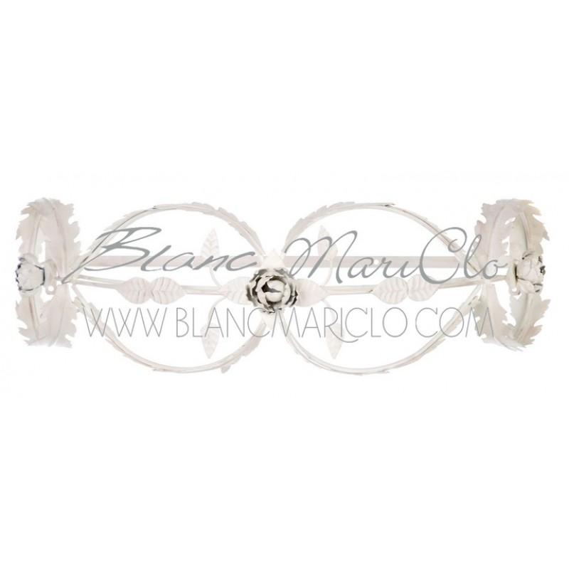 Cielo letto Blanc Mariclò, metallo avorio shabby, 72x48 cm - Etagere ...
