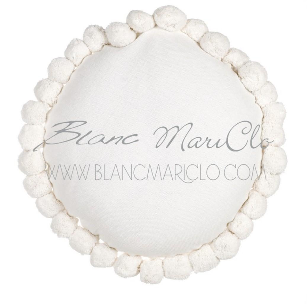 Cuscino arredo blanc maricl 45 cm rotone avorio cuscini tessuti - Blanc mariclo mobili ...