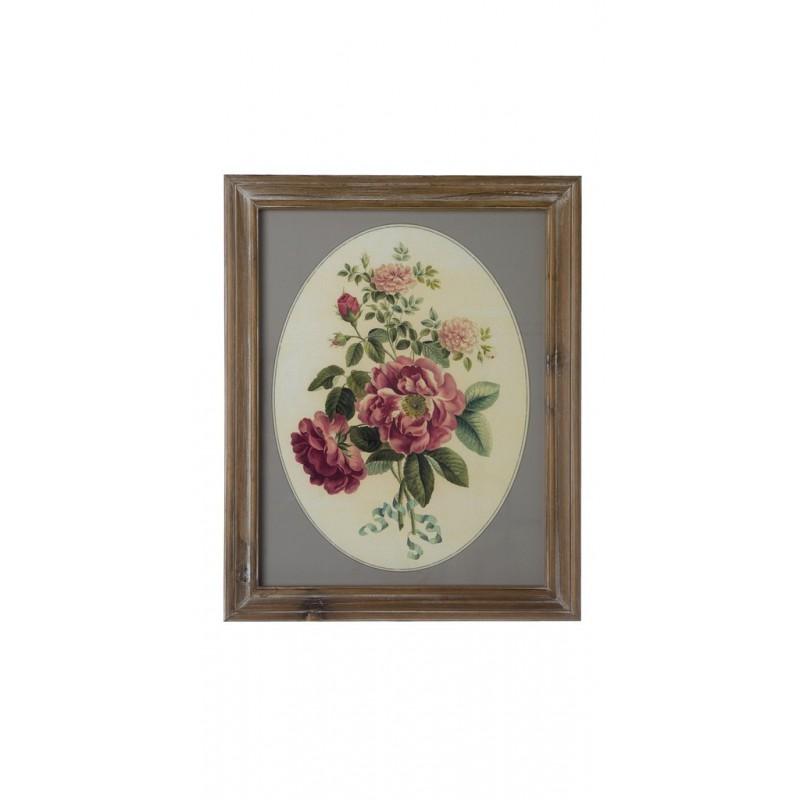 Quadro Blanc Mariclò 40x50 cm fiori rosa - Quadri ...