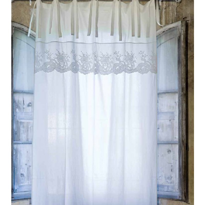 Tenda Blanc Mariclò, 140x300 cm, colore avorio